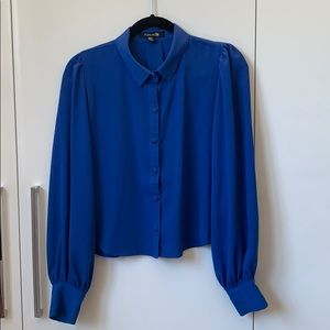 Blue Forever 21 Button Down Blouse